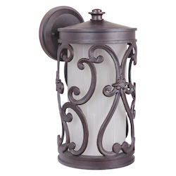 Craftmade Aged Bronze Glendale 1 Light LED Outdoor Wall Sconce - 6.25 Inches Wide