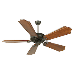 Craftmade Flat Black CXL 56in. 5 Blade Energy Star Indoor Ceiling Fan - Blades Included