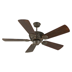 Craftmade Aged Bronze Chaparral 54in. 5 Blade Indoor Ceiling Fan - Blades Included