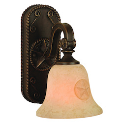 Craftmade Antique Bronze Chaparral 1 Light Bathroom Wall Sconce - 7.25 Inches Wide