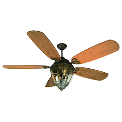 Craftmade Aged Bronze Outdoor Ceiling Fan With Light Kit