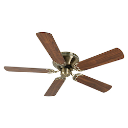 Craftmade Contemporary Flushmount Ceiling Fan In Antique Brass With 52