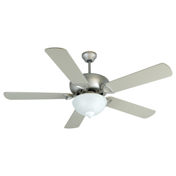Craftmade Brushed Nickel Alabaster Glass Ceiling Fan