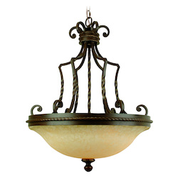 Craftmade Aged Bronze Riata 3 Light Bowl Shaped Pendant - 23 Inches Wide