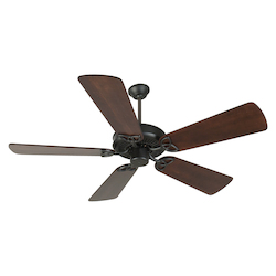 Craftmade Flat Black CXL 54in. 5 Blade Energy Star Indoor Ceiling Fan - Blades Included