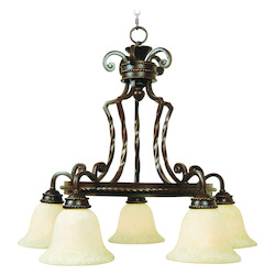 Craftmade Aged Bronze Riata Single Tier 5 Light Mini Chandelier - 28.75 Inches Wide