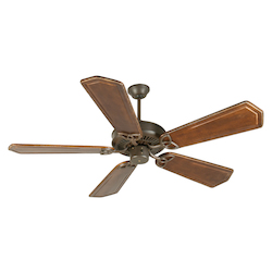 Craftmade Aged Bronze CXL 56in. 5 Blade Energy Star Indoor Ceiling Fan - Blades Included