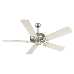Craftmade American Tradition Ceiling Fan In Brushed Nickel With 52