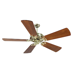 Craftmade Cxl Ceiling Fan In Polished Brass With 54