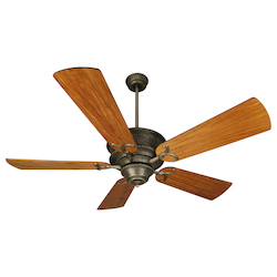 Craftmade Pewter Riata 54in. 5 Blade Indoor Ceiling Fan - Blades Included