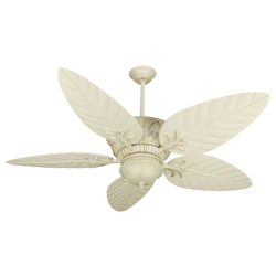 Craftmade Antique White Distressed Pavilion Indoor Ceiling Fan With Five 54