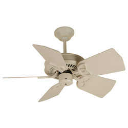 Craftmade Antique White Piccolo 30in. 5 Blade Indoor Ceiling Fan - Blades Included