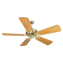 Craftmade Polished Brass Five Blade Ceiling Fan