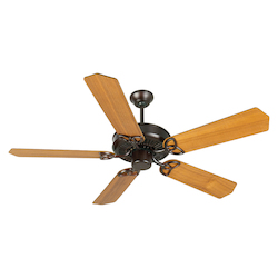 Craftmade Oiled Bronze CXL 52in. 5 Blade Indoor Ceiling Fan - Blades Included