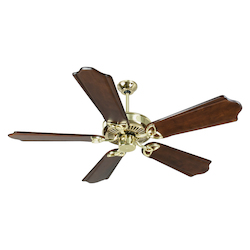 Craftmade Ceiling Fan In Polished Brass With 56