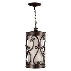 Craftmade Aged Bronze Glendale 1 Light LED Cylinder Outdoor Pendant - 8 Inches Wide