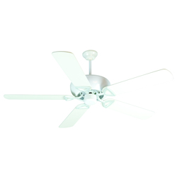 Craftmade White Leeward 52in. 5 Blade Indoor Ceiling Fan - Blades Included