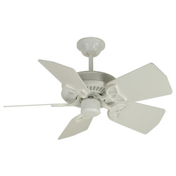 Craftmade White Piccolo 30in. 5 Blade Indoor Ceiling Fan - Blades Included
