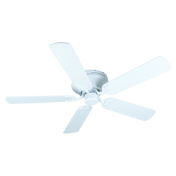 Craftmade White Contemporary Flushmount 52in. 5 Blade Indoor Ceiling Fan - Blades Included