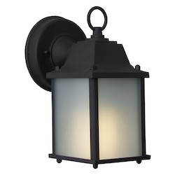 Craftmade Black Coach 1 Light Energy Star Outdoor Wall Sconce - 4.53 Inches Wide