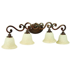 Craftmade Peruvian Scroll 4 Light Bathroom Vanity Light - 35 Inches Wide