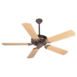 Craftmade Rustic Iron Porch Fan 52in. 5 Blade Indoor Ceiling Fan - Blades Included