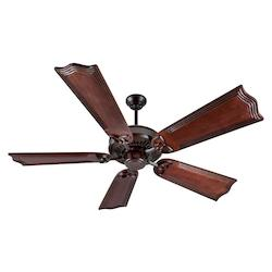 Craftmade Oiled Bronze Ceiling Fan With Five 56