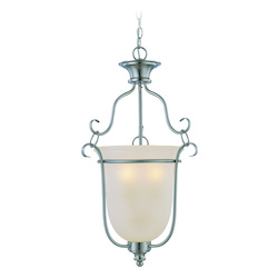 Craftmade Three Light Satin Nickel Foyer Hall Pendant