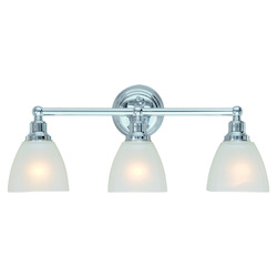 Craftmade Three Light Chrome Vanity