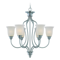 Craftmade Six Light Satin Nickel Up Chandelier