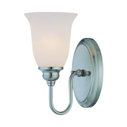 Craftmade One Light Satin Nickel Bathroom Sconce
