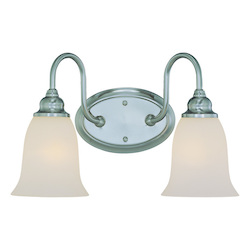 Craftmade Two Light Satin Nickel Vanity