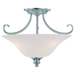 Craftmade Three Light Satin Nickel Bowl Semi-Flush Mount
