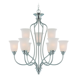 Craftmade Nine Light Satin Nickel Up Chandelier