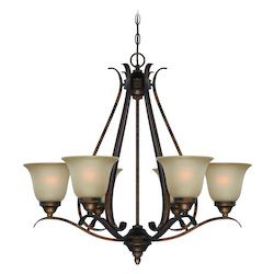 Craftmade Burleson Bronze Up Chandelier