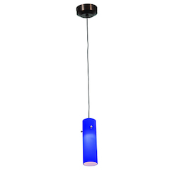 Access One Light Brz  Cob  Glass Down Pendant
