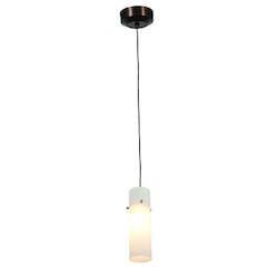Access One Light Brz  Opl  Glass Down Pendant