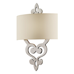 Corbett Polished Nickel Two Light Bathroom Fixture From The Olivia Collection