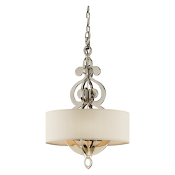 Corbett Polished Nickel Four Light Hanging Pendant From The Olivia Collection