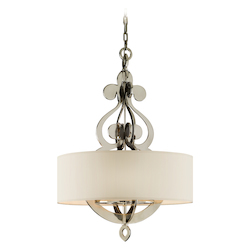 Corbett Polished Nickel Eight Light Hanging Pendant From The Olivia Collection