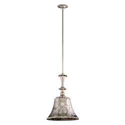 Corbett Polished Nickel One Light Bar Pendant From The Argento Collection