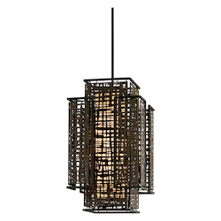 Corbett Two Light Bonsai Bronze Open Frame Foyer Hall Fixture