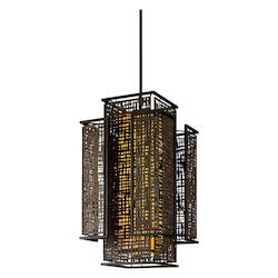 Corbett Four Light Bonsai Bronze Open Frame Foyer Hall Fixture