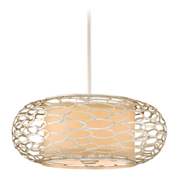 Corbett Modern Silver Three Light Hanging Pendant From The Cesto Collection