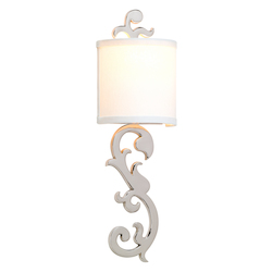 Corbett One Light Polished Nickel Wall Light
