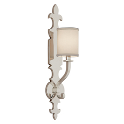 Corbett Polished Nickel Esquire 1 Light Solid Brass Wall Sconce