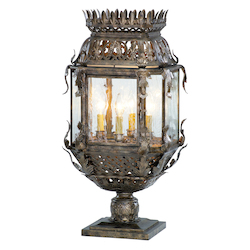 Corbett Four Light Montrachet Bronze Post Light