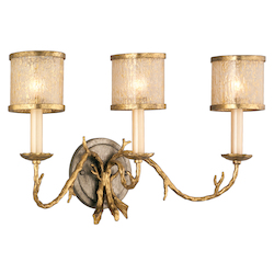 Corbett Gold / Silver Leaf Finish 3 Light Wall Sconce from the Parc Royale Collection