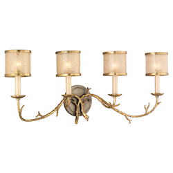 Corbett Gold / Silver Leaf Finish 4 Light Wall Sconce from the Parc Royale Collection