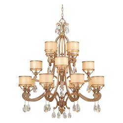 Corbett Antique Roman Silver 16 Light 3 Tier Chandelier from the Roma Collection